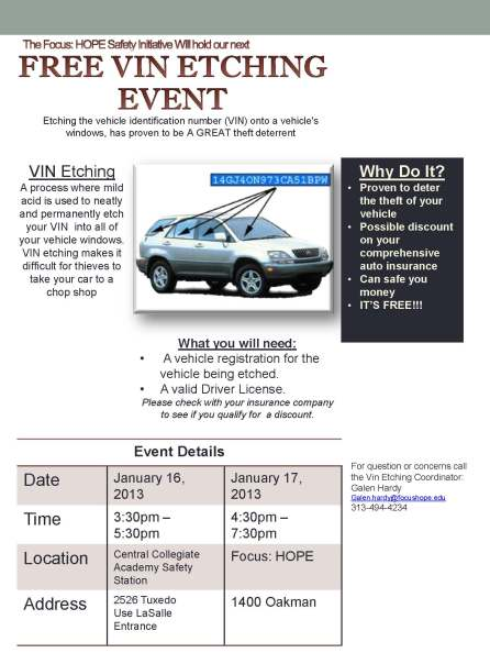 Vin Etching Event