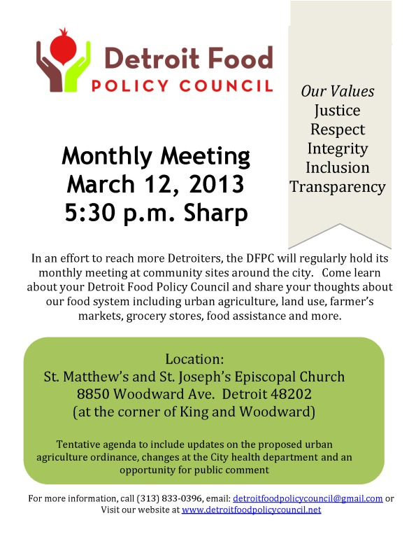 DFPC March Meeting Flyer
