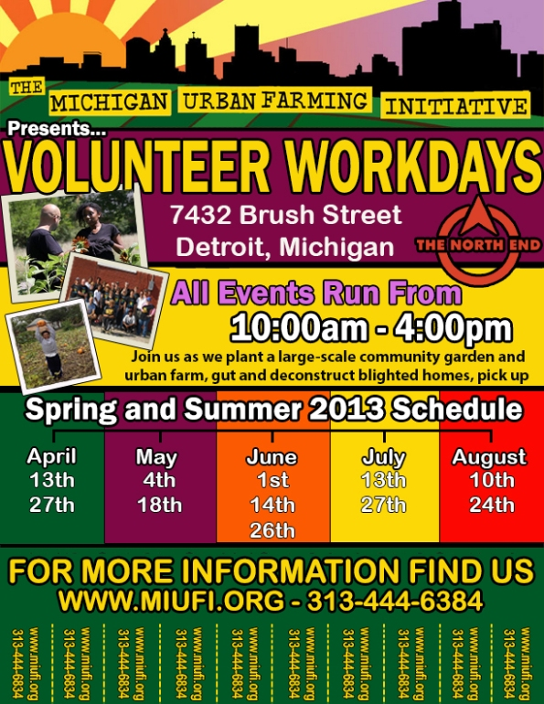 MUFI Spring + Summer Volunteer Calendar!